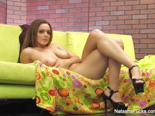 Behind the scenes of Natasha's sexy photoshoot