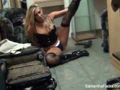 Behind the scenes with blonde pornstar Samantha Saint