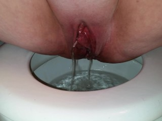 Peeing after rough sex. Swollen pussy