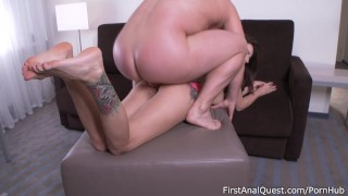 Anal toys help Camilla Moon with first time anal - FirstAnalQuest!