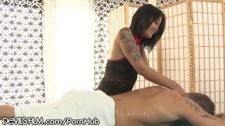 DevilsFilm Asian Masseuse Squirts for Client Blowjob mom
