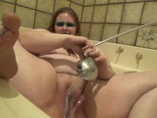 a bit of masturbation in the bath