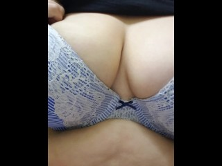 BBW titty play