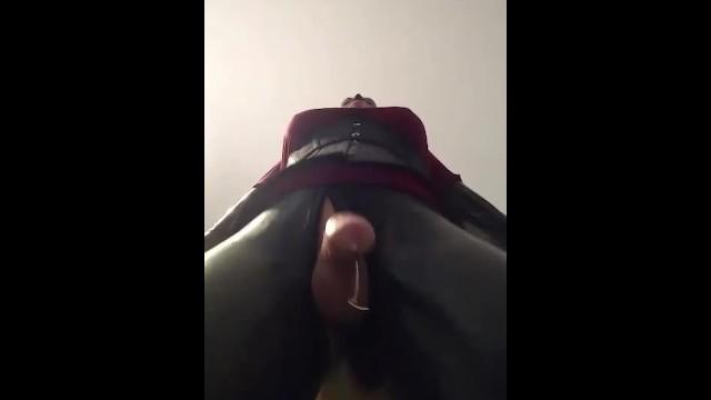 My big dildo makes me leak cum