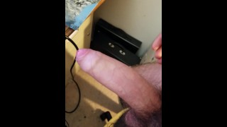 I cum all over my floor and leg