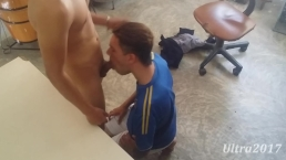 Swallow cum of my straight step-brother