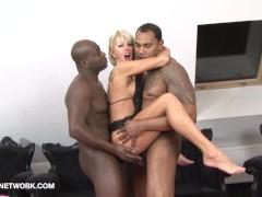 Interracial Threesome Mature Blonde Double Penetration Hardcore Fucked