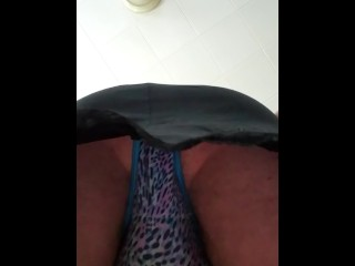 Horny in my slip and panties..i want to fuck myself!