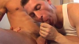 Stef innocent delivery guy serviced his big cock by a guy!