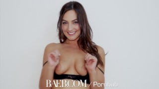 BAEB - Brunette babe Pepper XO gets her pink pussy stuffed
