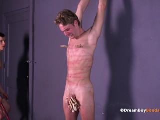 Hung Twink BDSM Whipping Gay Bondage Pain Slave