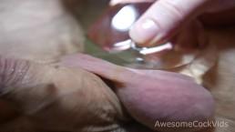 FETISH BRILLIANT SOLO MALE MASTURBATION IN BATH CLOSE UP DOWNSCALE 4K=1080P