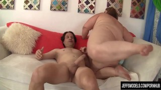 Chubby Cutie Takes a Hard Cock in Mouth and Fat Cunt Perky brunette