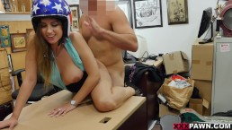 Ivy Rose Tries To Pawn a Famous Daredevil's Helmet on XXXPawn!