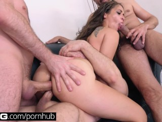 BANG Casting: DP Lover Ziggy Loves Getting Fucked By 3 Cocks