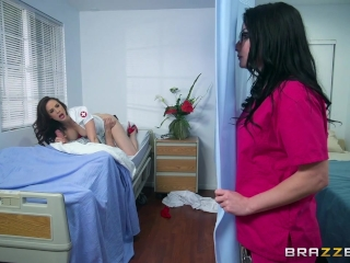 Nurses Chanel and Veruca share big dick - Brazzers