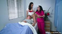 Nurses Chanel and Veruca share big dick - Brazzers