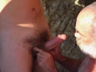 Daddy public cock sucking