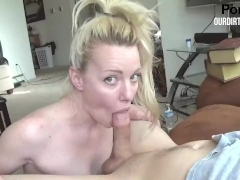 Young Blonde Teen Teases Big Cock - POV BJ -OurDirtyLilSecret