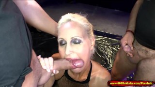Super Sexy Busty Mom is a human toilet 666Bukkake