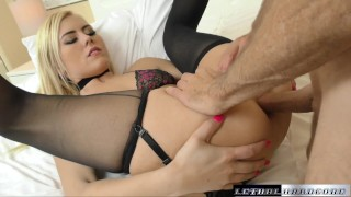 Screen Capture of Video Titled: Teen Summer returns to get her little asshole fucked