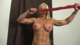 "Muscular Jill Jaxen, ""You're A Glutton For Punishment"""