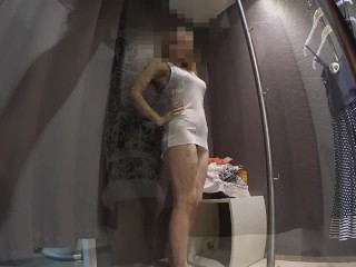 Preview 3 of Teen in lingerie store's Dressing room
