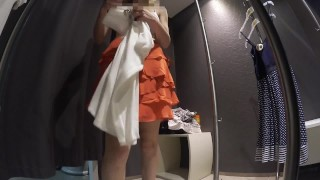 Preview 1 of Teen in lingerie store's Dressing room