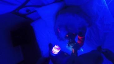 SecretCrush - Succubus POV Fucking & Blowjob Covers Ass In UV Body Paint
