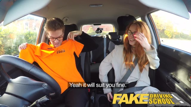 Red Head Big Tits Fake Taxi