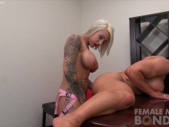 Duchess Dani Andrews Fucks Brandimae with a Strap-on