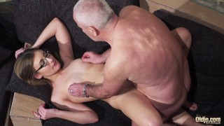 Sexy Young Chick Pleased by Horny Grandpa