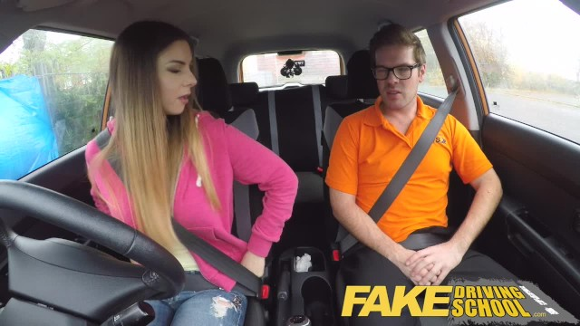 Fogarty r 2007 adult learner - Fake driving school full scene - hot italian learner with big natural tits