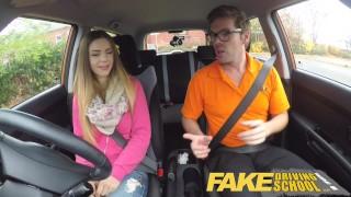 Fake Driving School full scene - Hot Italian learner with big natural tits Stepsis familystrokes