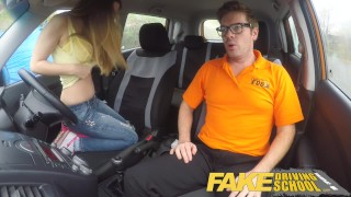 Learner full with school fake hot italian big natural driving scene tits drive instructor