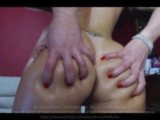Brazilian Striper Oiling Her Ass And Pussy Tiny Pussy Big Ass