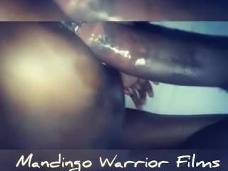 Lil cousin with mandingo warrior...