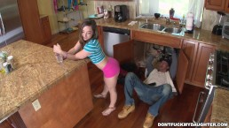 The Plumber Gets His Pipe Cleaned by Teen Bambi Brooks