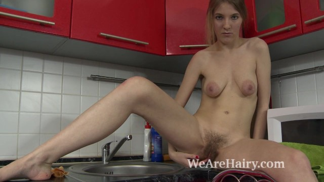 Girl strips in kitchen - Lavatta w strips naked and sexy in her kitchen