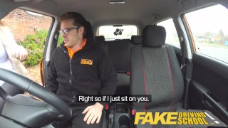 Fake Driving School busty jailbird takes instructor on a wild ride! Webcam fetiche