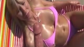 Blondine Bikini Fick Amateur