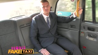 Busty gets fake blonde worker a female office taxi cabbie from surprise tits british