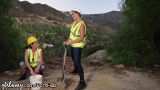 Girlsway Mia Malkova and Angela White help Lesbian Cum Ass milf