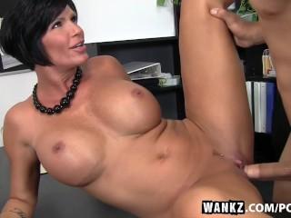 WANKZ- Busty MILF Boss Fucked Over Her Own Desk