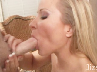 Little Blonde Teen Slut Chokes on your cock and swallows your huge load