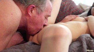 Old and Young Porn - Sweet innocent girlfriend gets fucked by grandpa Blackvalleygirls black
