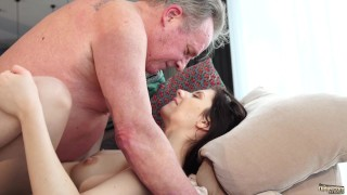 Girlfriend and young by sweet old gets innocent grandpa fucked porn girlfriend young