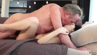 Old and Young Porn - Sweet innocent girlfriend gets fucked by grandpa Pussy chinese