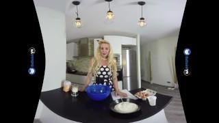 VR Porn Perfect Busty Blonde MILF gets FUCKED hard POV on BaDoinkVR.com Swallow blowjob