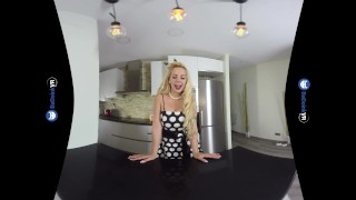 VR Porn Perfect Busty Blonde MILF gets FUCKED hard POV on BaDoinkVR.com Big licking